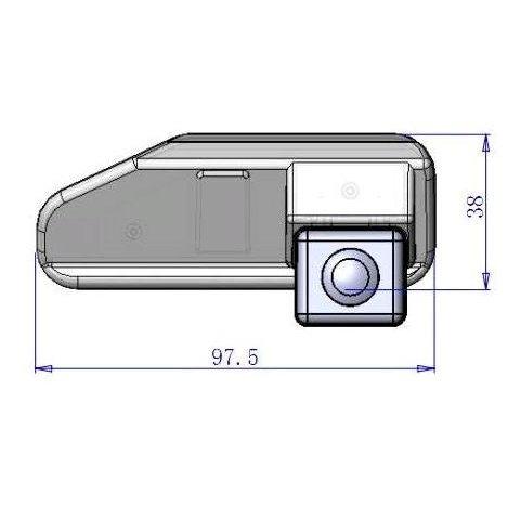 Автомобильная камера заднего вида для Lexus Превью 3
