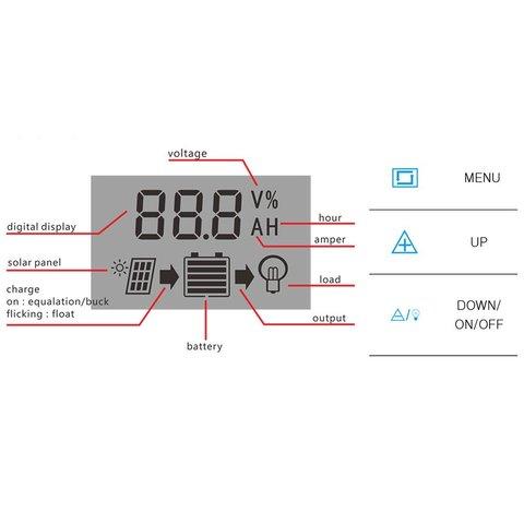 Контролер заряджання фотомодуля PVI-PWM-30A (30 A) Прев'ю 2