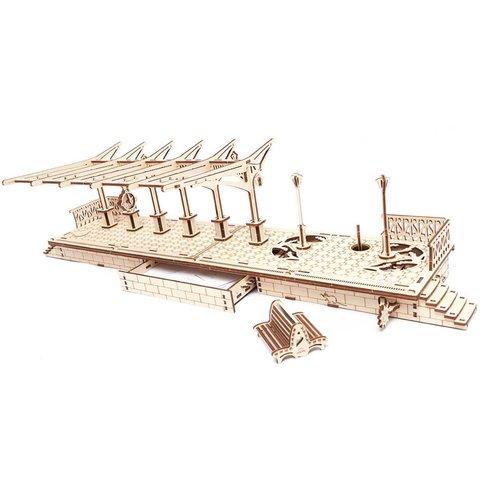 Mechanical 3D Puzzle UGEARS Railway Platform Preview 2